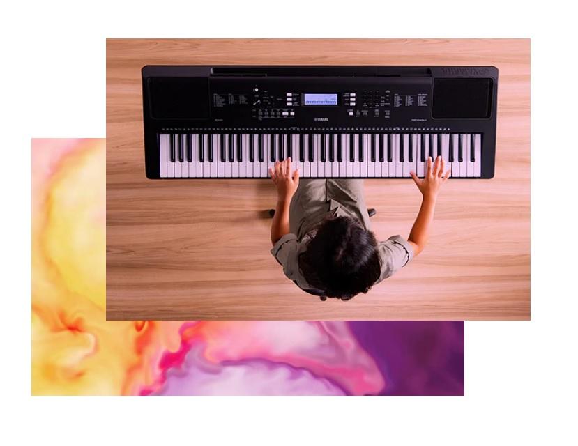Yamaha PSR-EW310 szersza klawiatura