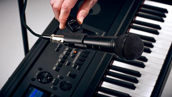 Podłącz mikrofon do karaoke lub śpiewu podczas gry